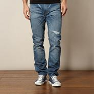 Levi's® 508 Shredded light blue regular fit jeans