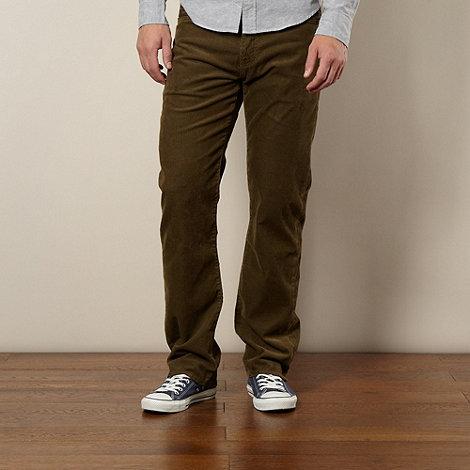 Levi+s - 751&#8482 dark green corduroy trousers