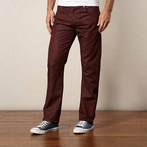 Levi+s - 501® wine straight leg jeans