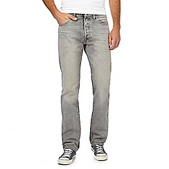 Levi's - Grey '501' mid wash straight leg jeans