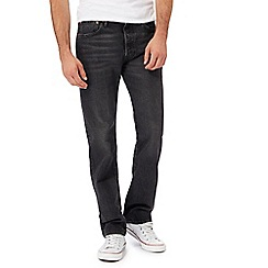 Levi's - Black '501' mid wash straight leg jeans