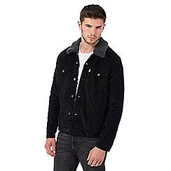 Levi's - Black corduroy sherpa collar jacket