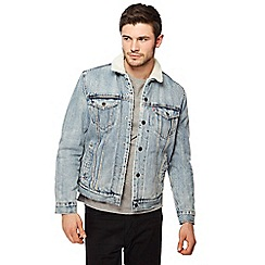 Levi's - Light blue denim sherpa lined jacket