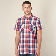 Big and tall red bold check shirt