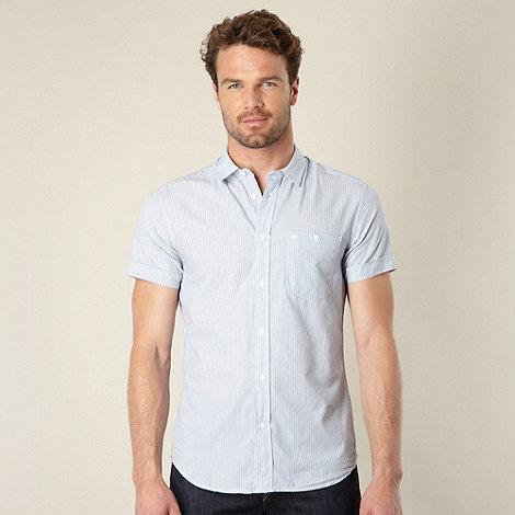 Wrangler - Blue alternating striped shirt