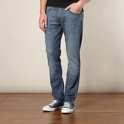 Wrangler - Arizona burning sole blue straight leg jeans
