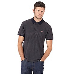 Levi's - Navy and grey striped polo shirt
