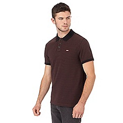 Levi's - Black and brown striped polo shirt