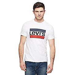 Levi's - White logo print t-shirt
