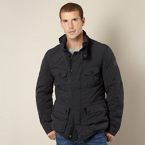 Wrangler - Big and tall black quilted jacket