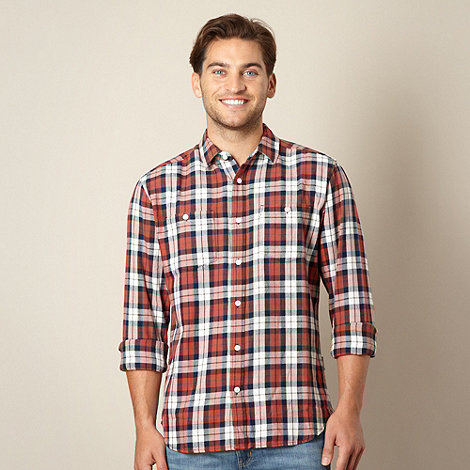 Wrangler - Red checked long sleeve shirt