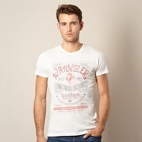 Wrangler - Off white horse poster t-shirt