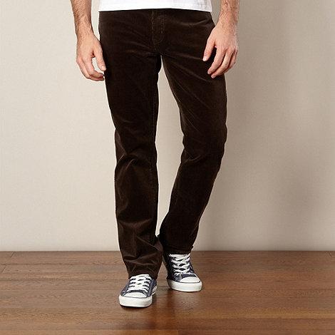 Wrangler - Dark grey cord trousers
