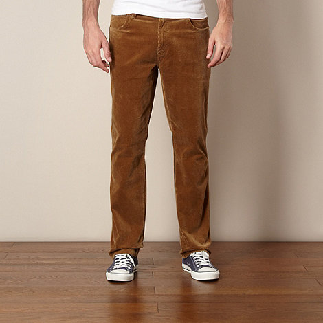 Wrangler - Light brown stretch cord trousers