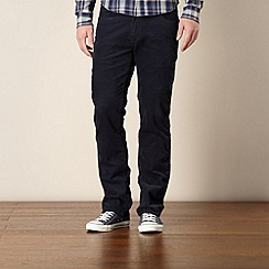 Wrangler - Navy functional cord trousers