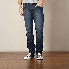 Wrangler - Greensboro wanderer faded blue straight leg jeans