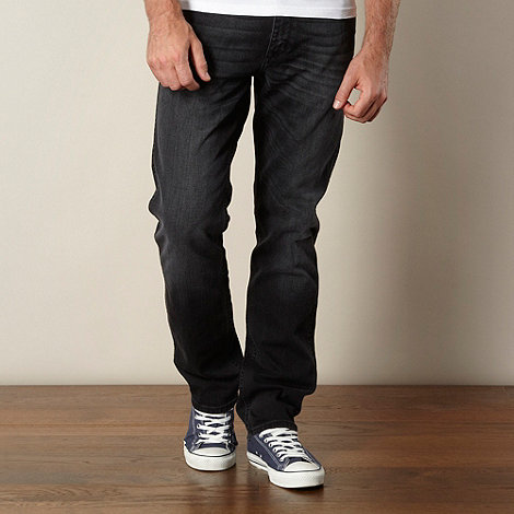 Wrangler - Greensboro two lane black straight leg jeans
