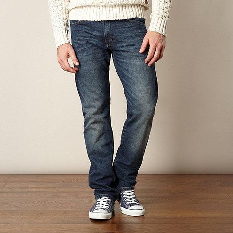 Wrangler - Greensboro selvedge blue straight leg jeans