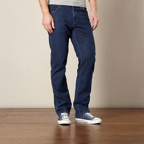 Wrangler - Texas mid stone blue regular fit jeans