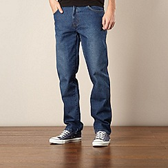 Wrangler - Texas stone free mid blue regular fit jeans