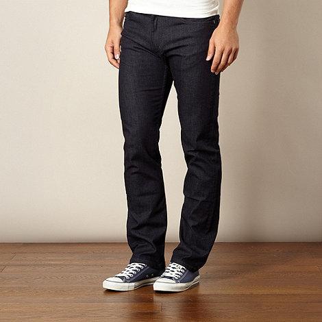 Lee - Brooklyn easy rinse dark blue straight leg jeans