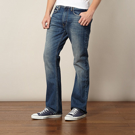 Lee - Rydell worn blue bootcut jeans