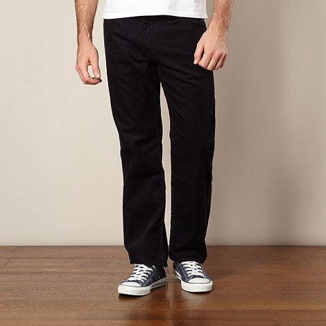 Lee - Brooklyn navy brushed cord trousers