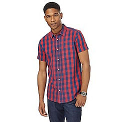 Wrangler - Red checked regular fit shirt