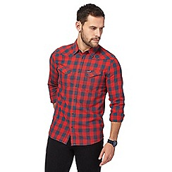 Wrangler - Red checked western shirt
