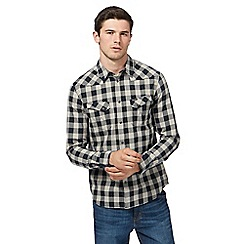 Wrangler - Black checked shirt
