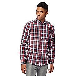 Wrangler - Red long sleeve checked shirt