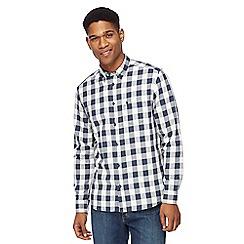 Wrangler - Blue long sleeve checked shirt