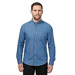 Wrangler - Blue slim fit shirt