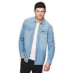 Wrangler - Light blue denim western shirt