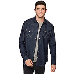 Wrangler - Dark blue denim western shirt