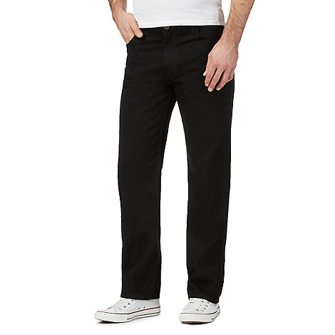 Lee - Big and tall Brooklyn black straight leg jeans