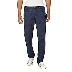 Wrangler - Big and tall navy 'Arizona Nightfall' straight fit jeans
