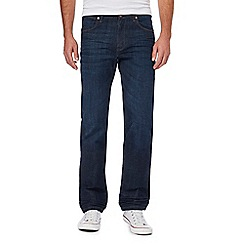 Wrangler - Big and tall blue 'arizona' regular fit jeans