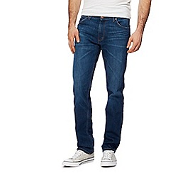 Wrangler - Big and tall blue 'greensboro' straight jeans