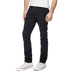 Wrangler - Black 'Larston' slim tapered jeans