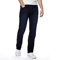 Wrangler - Big and tall dark blue 'arizona' jeans