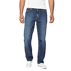 Wrangler - Big and tall blue 'texas' regular fit jeans