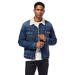 Wrangler - Blue denim sherpa jacket