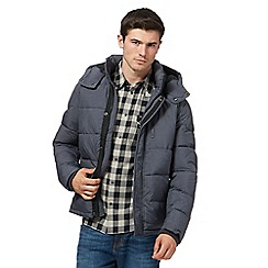 Wrangler - Grey padded hooded bomber jacket