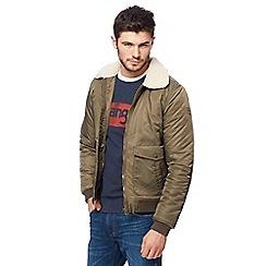 Wrangler - Khaki flight jacket