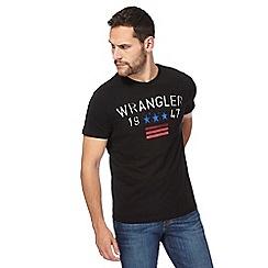 Wrangler - Black '1947' print t-shirt