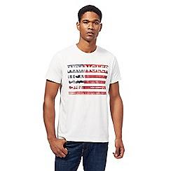 Wrangler - White USA flag t-shirt