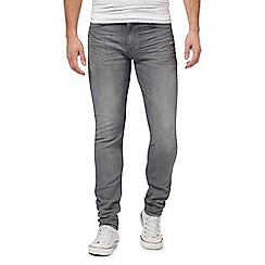 Lee - Grey 'Arvin' mid wash tapered jeans