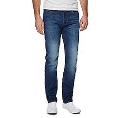 Lee - Blue 'Daren After Dark' mid wash straight fit jeans