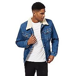 Lee - Blue denim sherpa jacket